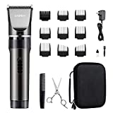 WONER Hair Trimmers, Quiet Cordless Rechargeable Hair Clippers, 16-piece Home Hair Cutting...