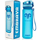 Embrava Best Sports Water Bottle - 18oz Small - Eco Friendly & BPA-Free Plastic - Fast...
