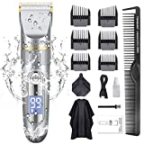 GOOLEEN Hair Clippers for Men Cordless Hair Clippers Beard Trimmer Professional IPX7...