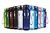 Super Sparrow Sports Water Bottle - Eco Friendly & BPA-Free Plastic - Fast Water Flow,...