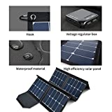 130W Portable Collapsible Solar Panel Charger SUNGZU Waterproof Nylon 600D Material...