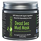 Dead Sea Mud Mask by Sky Organics For Face, Acne, Oily Skin & Blackheads - Best Facial...