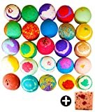 10 Large Bath Bombs W/Free Soap Bar, USA Made Gift Set - Bath Fizzies -Over 200 Different...