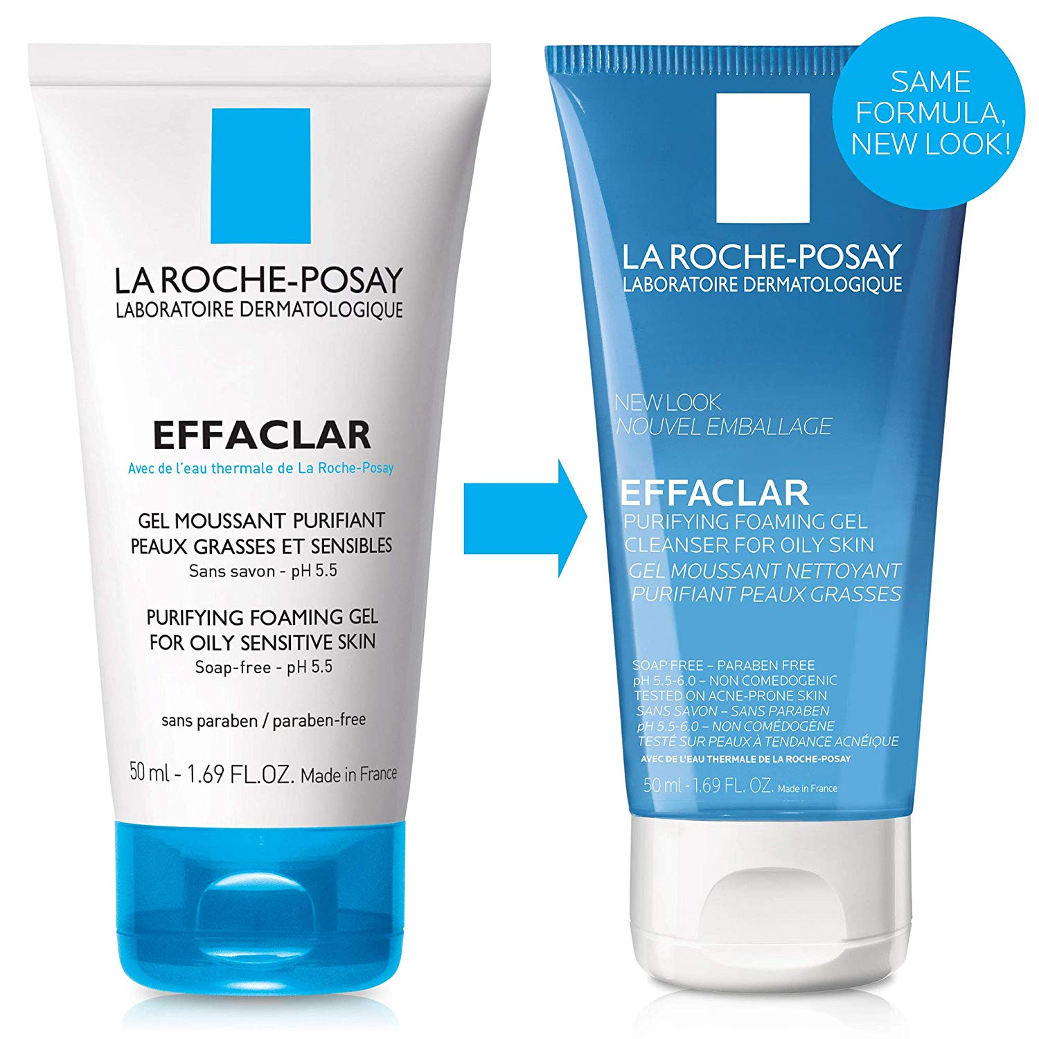 La Roche-Posay Effaclar Purifying Foaming Face Wash Gel Cleanser