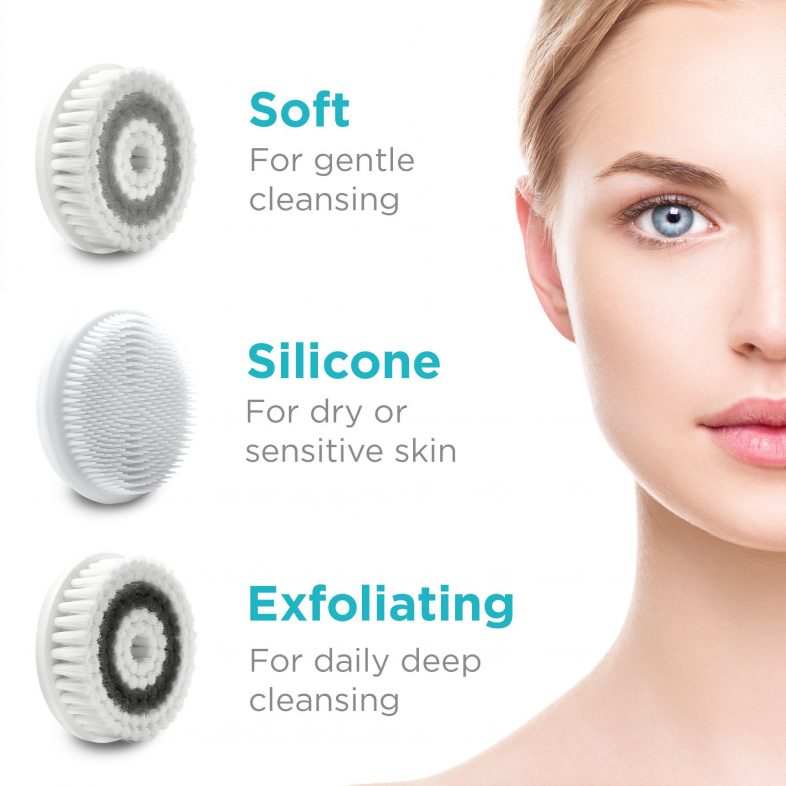 electric face cleanser brush